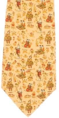 Salvatore Ferragamo Ethnic Print Silk Tie