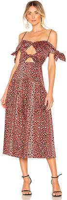 Rebecca Taylor Leopard Bow Dress