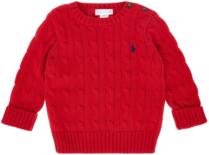Baby Boy Cable Crew Knitted Jumper