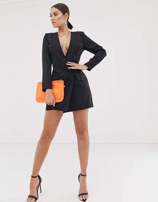 e1d89073 Public Desire X Lissy Roddy mini blazer dress