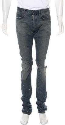 Balmain Distressed Painter Skinny Jeans