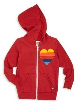 Aviator Nation Toddler's, Little Girl's& Girl's Heart Applique Hoodie