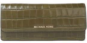 MICHAEL Michael Kors Croc-Effect Leather Wallet