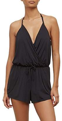 Kenneth Cole Reaction Women's Ready to Ruffle Romper One Piece Swimsuit