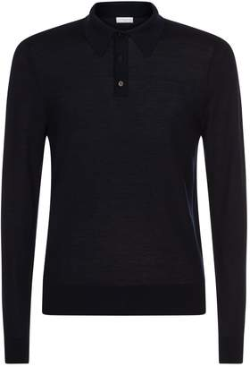 Sandro Fine Knit Polo Shirt
