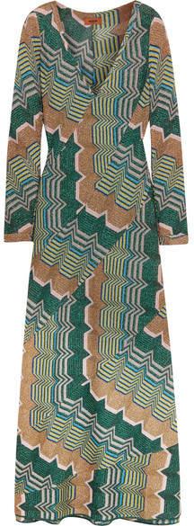 Missoni - Metallic Crochet-knit Maxi Dress - Green