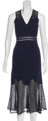 Jonathan Simkhai Open Knit Midi Dress Navy Open Knit Midi Dress