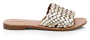 Soludos Women's Woven Leather Slide Sandals