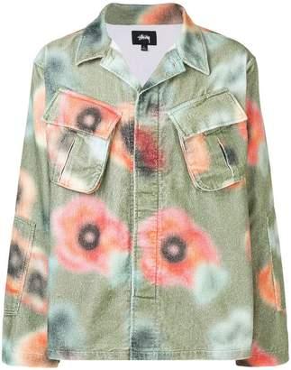 Stussy velveteen floral shirt
