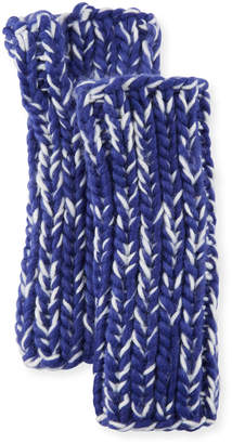 San Diego Hat Company Chunky Marled Knit Fingerless Gloves, Blue
