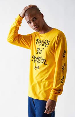 adidas Pacsun Thanks Yellow Long Sleeve T-Shirt