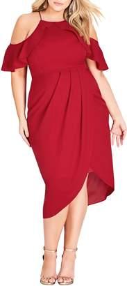 City Chic Love Siren Cold Shoulder Dress