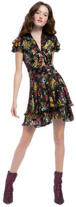 Alice + Olivia Moore Floral Mini Dress