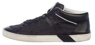 Louis Vuitton Leather & Denim Sneakers