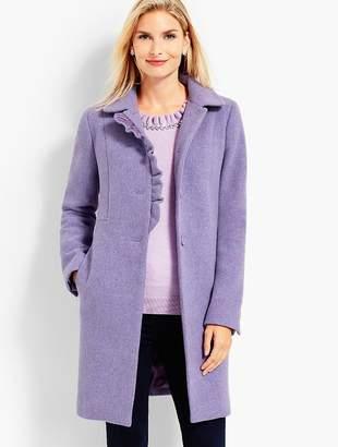 Talbots Albury Wool Ruffle Coat