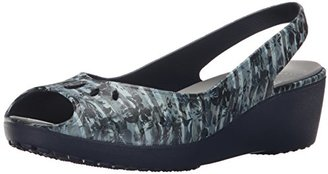 crocs Women's Mabyn Striped Floral Miniwedge Platform Sandal $19.99 thestylecure.com