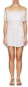 Eberjey WOMEN'S RANIA BELTED COTTON DRESS - WHITE SIZE S/M