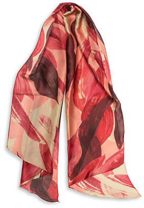 Vince Camuto Leafy Bias Long Scarf