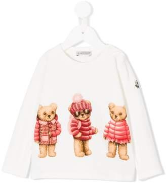 Moncler teddy bear print top