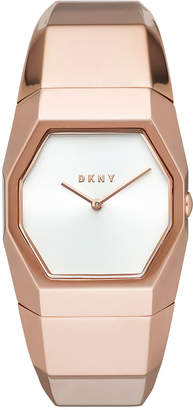 DKNY Women's Beekman Rose Gold-Tone Stainless Steel Bangle Bracelet Watch 32mm, Created for Macy's