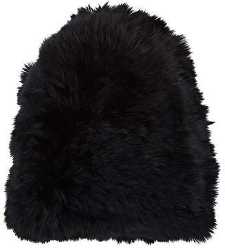 Hat Attack Women's Knitted Rabbit Fur Skully