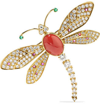 Fred Leighton Contemporary 18-karat Gold Multi-stone Brooch