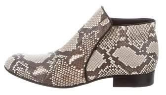 Céline Python Ankle Boots