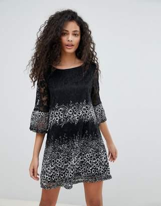 Yumi Lace Printed Dress