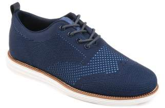 Territory Men's Lightweight Lace-Up Comfort-Sole Knit Wingtip Dress Shoes