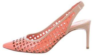 Reed Krakoff Patent Leather Laser Cut Pumps