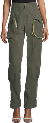 Tre By Natalie Ratabesi Zip-Pocket Cargo Pants