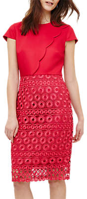 Phase Eight Marlin Lace Dress, Hot Pink