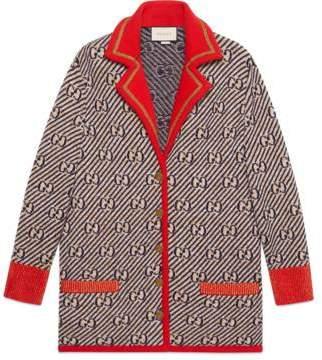 Gucci GG stripe wool jacket