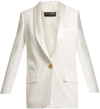 Balmain Single-breasted crepe blazer