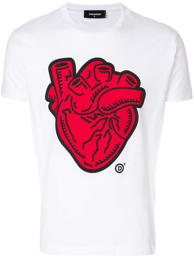 DSQUARED2 Heart print T-shirt
