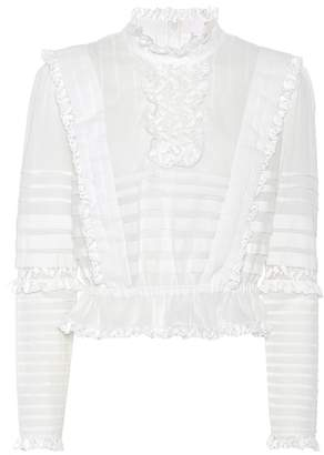 Zimmermann Helm Layered Frill cotton top