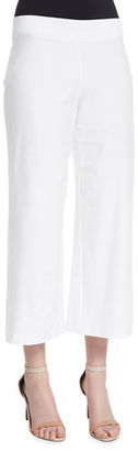 Eileen Fisher Washable Stretch Crepe Cropped Pants, Plus Size $168 thestylecure.com