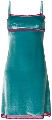 Alberta Ferretti velvet A-line dress