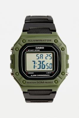 Casio F108 Illuminator Khaki Watch - green at Urban Outfitters