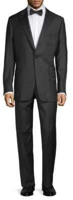 Hickey Freeman Wool Peak Lapel Tuxedo