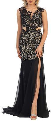Asstd National Brand Hot Long Sweet 16 Dress With Thigh High Slit