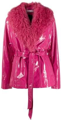 Saks Potts wet look lined jacket