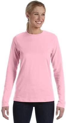 B.ella Ladies Long Sleeve Crew Neck Jersey T-Shirt