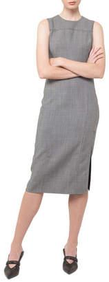Akris Sleeveless Side-Slit Sheath Dress