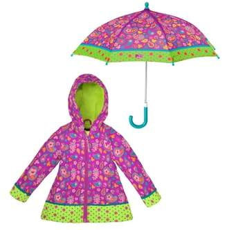 Stephen Joseph Paisley Raincoat & Umbrella Set