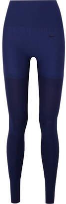 Nike Studio Ribbed Stretch Leggings - Indigo