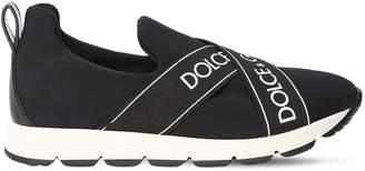Dolce & Gabbana Logo Bands Neoprene Slip-On Sneakers