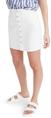 Madewell Button Front Straight Denim Skirt