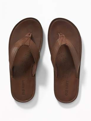 Old Navy Faux-Leather Sandals for Men
