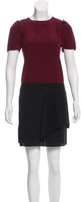 Miu Miu Colorblock Silk Dress
